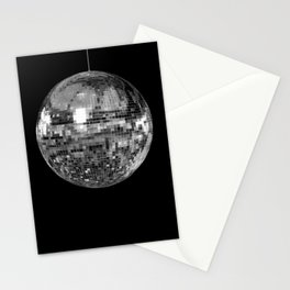 Silver Mirrored Disco Ball Stationery Cards