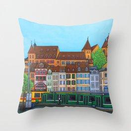 Barfüsserplatz Rendez-vous Throw Pillow