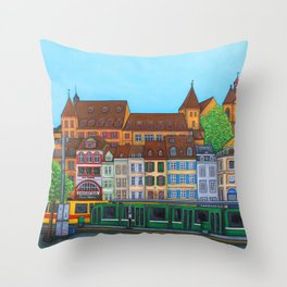 Barfüsserplatz Rendez-vous Throw Pillow