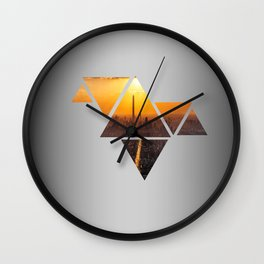 Triangles 3 Wall Clock