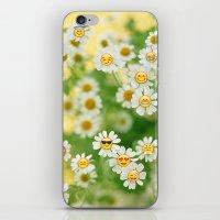 emoji iPhone & iPod Skins featuring Emoji Garden by jajoão