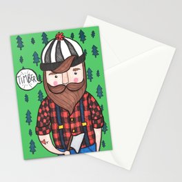 Timber Lumberjack Stationery Cards