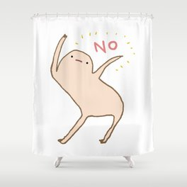 Honest Blob Says No Shower Curtain
