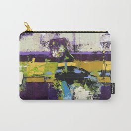 Controversy Prince Deep Purple Abstract Painting Modern Art Carry-All Pouch