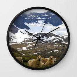 Icelandic sheep #2 Wall Clock