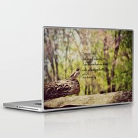 jane eyre Laptop & iPad Skins featuring I Am No Bird Jane Eyre Charlotte Bronte Quote by KimberosePhotography