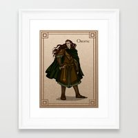 valar morghulis Framed Art Prints featuring Orome by wolfanita