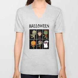 Halloween horror Unisex V-Neck