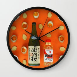 Japan meal. Gift. Kitchen.  Wall Clock