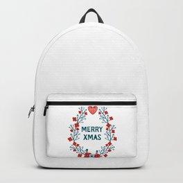 A Scandinavian Christmas - classic wreath Backpack