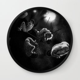 human asteroids Wall Clock