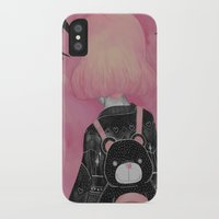 loll3 iPhone & iPod Cases featuring T e d d y  by lOll3