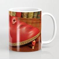 mask Mugs featuring Mask by Melancholy & Menace