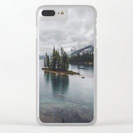 Maligne Lake Jasper Alberta Clear iPhone Case