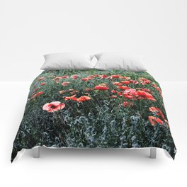 Poppies In A Field Comforters