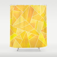 sunshine Shower Curtains featuring Sunshine by Elisabeth Fredriksson