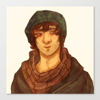 grantaire Canvas Prints featuring Grantaire by deadpokerface