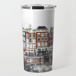 Amsterdam Netherlands Travel Mug