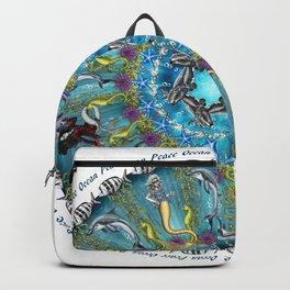 Ocean Peace Mandala Backpack