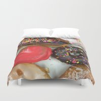 breakfast Duvet Covers featuring breakfast by Timmy Valentine
