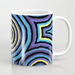 Authentic Aboriginal Art - Campsite Blue Coffee Mug