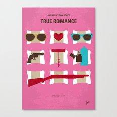 No736 My True Romance minimal movie poster Canvas Print