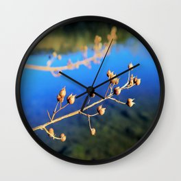 the blue river Wall Clock