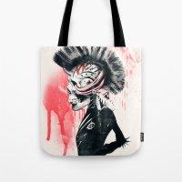 punk Tote Bags featuring PUNK by Ali GULEC