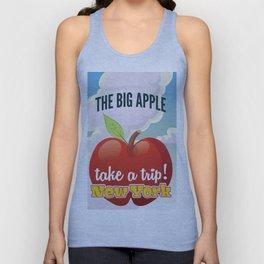 New York Big Apple travel poster Unisex Tank Top