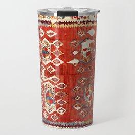 Hotamis  Antique Turkish Karapinar  Kilim Print Travel Mug