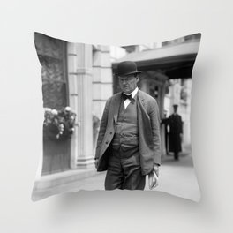 Clarence Darrow Walking Down The Street - 1915 Throw Pillow