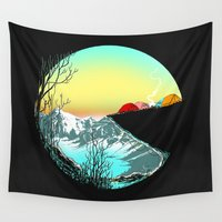 calvin Wall Tapestries featuring Pac camp by carbine