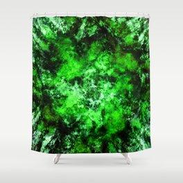 Green burst Shower Curtain