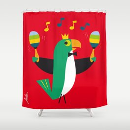 Cha Cha Cha Parrot Shower Curtain