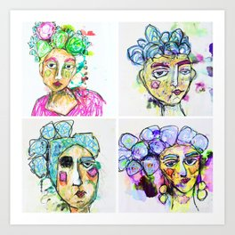 The Four Sisters Art Print