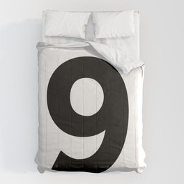 Number 9 (Black & White) Comforters
