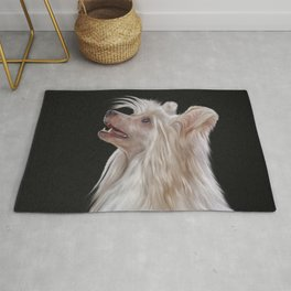 Drawing, illustration Chinese crested dog Rug