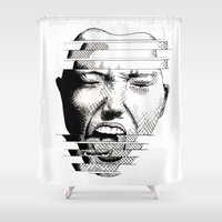 scream Shower Curtains featuring SCREAM by Kate Barron