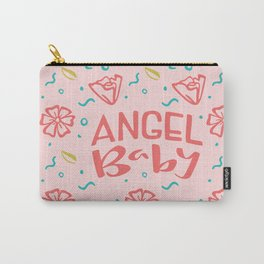 Angel Baby Light Pink Carry-All Pouch
