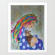 Love Flows Art Print