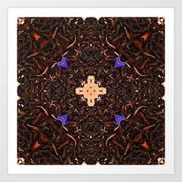 Black Tea Leaves With Lavender Cornflower Bergamot And Vanilla Energy Essence Art Print