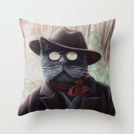 Kitty Roosevelt Throw Pillow