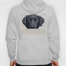 Labrador with white background Dog illustration original painting print Hoody