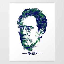 Gustav Mahler Art Print