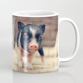 Piebald Pig puppy for Pig Lovers                                        Coffee Mug