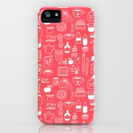 Pattern Project #8 / Things (red) iPhone Case