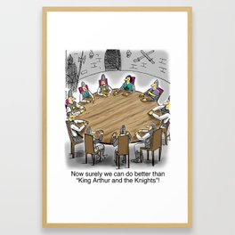 King Arthur and The Knights of the Round Table Framed Art Print