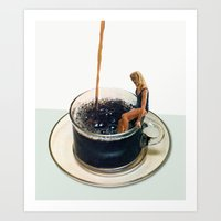 Art Prints featuring COFFEE by Beth Hoeckel