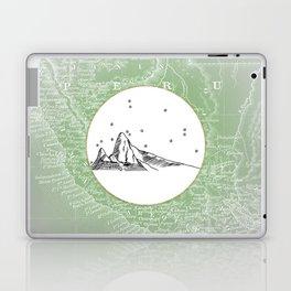 Machu Picchu, Peru, South America - Seven New Wonders Skyline Illustration Drawing Laptop & iPad Skin