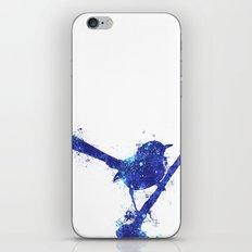 Fairy Wren Watercolour Splash iPhone & iPod Skin